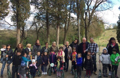 Festa degli alberi per i bambini di Levane
