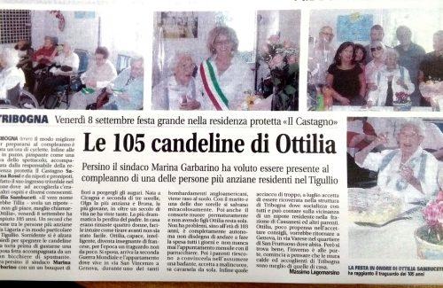 """105 CANDELINE NELLA RESIDENZA """"IL CASTAGNO"""" DI TRIBOGNA"""